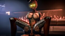 3d_(artwork) animatronic anthro bear bexstinsfm big_breasts breasts erection female five_nights_at_freddy's freddy_(fnaf) hair hat human machine male mammal nipples nude penetration penis pussy robot rule_63 sex simple_background source_filmmaker straight top_hat video_games
