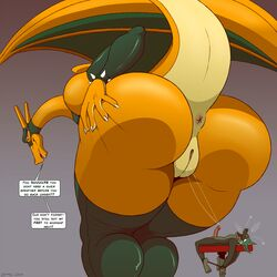 1boy 1girl 2018 4_toes after_sex anthro anus ass big_ass big_tail black_eyes bondage bound canine charizard claws cum cum_in_pussy cum_inside dated death_by_snu_snu dialogue domination duo english_text erection eyelashes fangs feet female female_domination furry giant giantess gloves green_fur green_skin hand_on_ass huge_ass humanoid_feet humanoid_penis hyper hyper_ass interspecies large_ass larger_female long_neck looking_at_viewer looking_back macro male mask micro ms._zard nintendo on_back on_table on_top open_mouth orange_eyes orange_skin original_character penis pokémon_(species) pokemon pokemon_rgby purple_background pussy pussy_juice raised_tail rolling_eyes rope scalie signature size_difference smaller_male smile soles spikes spread_ass spreading standing straight table tail teeth testicles text thick_thighs thighhighs toes tongue tongue_out tumblr video_games watermark wet wide_hips wings zp92