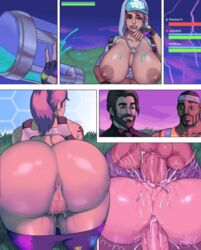 2boys all_fours anal anal_insertion anus ass ass_juice ass_up balls bangs bbc bent_over big_ass big_breasts big_penis breasts breasts_outside bubble_butt comic cum cum_in_pussy cum_inside dark-skinned_male dark_skin doggy_style double_penetration drunk exposed_breasts female fingerless_gloves fortnite gangbang gigantic_ass happy_sex hat hoodie huge_ass huge_balls huge_breasts huge_cock hyperion_(character) imminent_sex interracial jay-marvel latina lipstick male mating_press mmf_threesome multiple_boys multiple_penises muscular muscular_male nipples pants_down penetration penis ponytail presenting presenting_hindquarters presenting_pussy pubic_hair pussy pussy_juice sex shiny_skin smile straight swinging_balls teasing teknique thick_lips thick_penis thick_thighs threesome tight_fit tongue vaginal_penetration video_games wet wide_hips