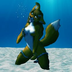 bubbles cum drowning female fox furry furry_only masturbation photoshop pussy_ejaculation shapeshifterprincess solo solo_female underwater voyagetales