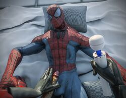 absurdres cock deadpool forced frottage gay gloves hires looking_at_viewer marvel orgasm ralic_turman rape spider-man spider-man_(series) suit vibrating vibrator vibrator_on_penis yaoi