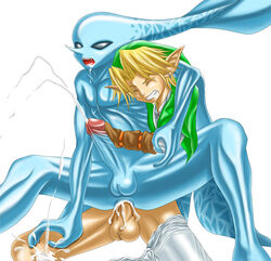 2007 anal balls cum link male male/male nintendo open_mouth penis sheeque the_legend_of_zelda video_games zora