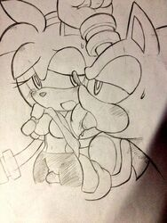 amy_rose armpit_licking armpits breasts finger_fuck nipples ohyuki pussy sonic_(series) sonic_the_hedgehog