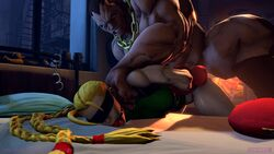 3d animated ball_gag balrog bed bend_over blindfold bondage cammy_white forced gag gagged handcuffs interracial pillow rape rapetacular sound street_fighter street_fighter_5 tied_up webm window