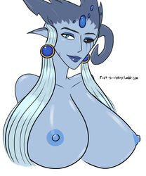 avaryss big_breasts blue_skin bust demon huge_breasts monster riot-s-retro runescape