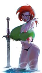 abs absurd_res areolae ass big_ass big_breasts big_nipples breasts busty cleavage curvy erect_nipples fairly_oddparents fangs female female female_only highres holding_sword holding_weapon huge_breasts human lactation large_breasts looking_at_viewer mfus midriff milk navel nickelodeon nipples pink_eyes ponytail red_hair red_hair ripped_clothing sharp_teeth skull sleeveless smile solo sword teeth thick_thighs thong tongue tongue_out vicky voluptuous water wide_hips