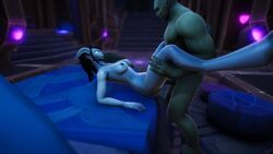 1boy 1girl 3d animated breasts draenei female holding_legs interspecies lying lying_on_back male_pov missionary missionary_position no_sound sex straight vaginal_penetration warcraft webm world_of_warcraft