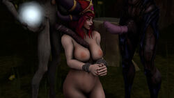 alexstrasza bound bound_wrists breasts heroes_of_the_storm magic monster penis red_hair red_nails source_filmmaker world_of_warcraft yellow_eyes