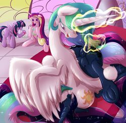 2017 alicorn anus areola ass ass_up bed castle clitoris cosmic_hair cunnilingus cutie_mark dock domination duo_focus english_text equine eyebrows eyelashes facesitting feathered_wings feathers female female/female female_domination feral feral_on_feral friendship_is_magic frist44 fur glass glowing_horn group hair hi_res hooves horn incest inside jar leg_grab levitation long_hair long_horn looking_down lying magic mammal multicolored_hair my_little_pony nipples no_pupils nude on_back on_bed on_top onomatopoeia open_mouth open_smile oral princess_cadance_(mlp) princess_celestia_(mlp) princess_luna_(mlp) puffy_anus purple_eyes purple_feathers pussy rainbow_hair sex sibling sisters smile sound_effects spanking spread_legs spreading submissive_female teats text tongue twilight_sparkle_(mlp) underhoof upside-down vaginal_penetration white_feathers wings yuri