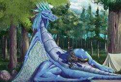 2018 animal_genitalia animal_penis anthro anus ass auroth_the_winter_wyvern balls bedroom_eyes big_balls big_penis black_fur blue_eyes blue_hair blue_scales camp canine canine_penis claws closed_eyes detailed_background digital_media_(artwork) dota dragon duo erection feathered_wings feathers female feral forest fur grey_fur hair half-closed_eyes hi_res intersex male male/female mammal multicolored_fur nude open_mouth outside penetration penis pussy pussy_juice reptile scales scalie seductive sex size_difference spikes tall_lizzard_(artist) teeth tent thick_thighs tongue tree vaginal_penetration video_games wide_hips wings wolf wyvern