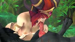 <30_second_webm 3d_(artwork) alexstrasza animal_genitalia animal_penis animated bad_metadata bestiality big_breasts big_penis breasts canine canine_penis digital_media_(artwork) dragon duo elf erection fellatio female female_on_feral feral high_framerate human human_focus human_on_feral humanoid huntress interspecies knot male male/female male_penetrating mammal mostly_nude no_sound nude oral oral_penetration penetration penis sex silent-huntress solo_focus video_games warcraft webm wolf