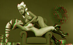 2girls 3d aayla_secura ahsoka_tano alien alien_girl artist_name bald bare_shoulders big_breasts boots busty chair christmas clone_wars curvy detailed_background erect_nipple erect_nipples eyelashes female female_on_top female_only front_view gift hand_on_hip hands_on_hip hands_on_hips headgear high_heel_boots high_heels hourglass_figure humanoid jedi jedi_master jedi_padawan kondaspeter looking_at_viewer looking_up mammal marking multiple_females multiple_girls naked nude pose posing shadow shiny shiny_skin side_view sitting standing star_wars togruta twi'lek voluptuous wide_hips