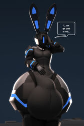 3d_(artwork) anthro anthroanim balls big_balls bulge bunny_ears_(disambiguation) digital_media_(artwork) english_text hi_res huge_balls huge_thighs humanoid hyper hyper_balls hyper_bulge hyper_penis hyper_thighs machine male not_furry penis robot s.o.r.u. simple_background solo standing text thick_thighs wide_hips