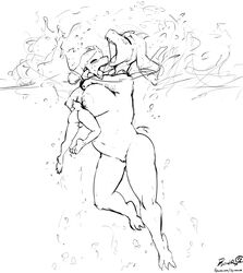 2018 anthro asriel_dreemurr ass balls between_breasts big_breasts blush breasts byondrage caprine female gasping goat hi_res hug huge_breasts male mammal mother mother_and_son navel nipples nude open_mouth outside parent penis pussy sea simple_background slightly_chubby son surfacing swimming tongue toriel undertale underwater video_games water young