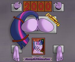 5_fingers 5_toes anthro anus ass barefoot bondage bondage bound equine feet female friendship_is_magic mammal mostlymlpanthroporn my_little_pony nude public_use pussy solo stuck_in_wall toes twilight_sparkle_(mlp)