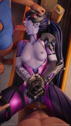 1girl 2boys 3d animated blender blizzard_entertainment edit fellatio fritzhq gangbang hands_tied laying lerico213 missionary oral overwatch penetration purple_skin sex sound threesome tied_hands tied_up vaginal_penetration webm widowmaker