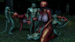 3d_(artwork) age_difference anal anal_sex anthro digital_media_(artwork) double_penetration female forced group group_sex larger_female lizard male male/female older_female penetration rape reptile scalie sex size_difference smaller_male snake source_filmmaker vaginal_penetration vaginal_penetration young younger_male