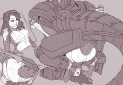 anal anus ass blizzard_entertainment bodysuit breasts clenched_teeth d.va dehaka demimond23 female fucked_silly greyscale headphones heroes_of_the_storm huge_cock lying mating_press mecha monochrome nipples on_back overwatch penis pussy robot sex spread_legs starcraft teeth torn_bodysuit torn_clothes