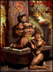 chained_up clark_kent erection gay kryptonite male male_only muscles slave superman tied_up