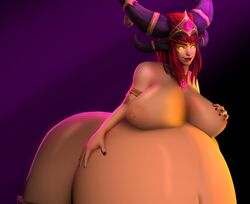 3d alexstrasza areola belly big_belly breasts expansion female heroes_of_the_storm huge_belly infaltion louthepyro nipples source_filmmaker world_of_warcraft