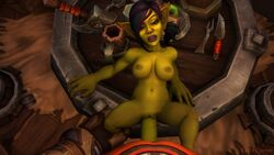1boy 1girl 3d areolae big_lips black_hair breasts clothed_male_nude_female duo eyelashes faceless_male facial_piercing fan_character female goblin goblin_female green_skin highres huge_cock humanoid humanoid_on_humanoid interspecies kaelscorner large_breasts larger_male leg_grab lipstick male male_pov missionary_position mojo_quicktongue navel nipples nose_piercing nose_stud on_table open_mouth penis piercing pointy_ears ponytail pov purple_hair purple_lipstick size_difference smaller_female solo_focus spread_legs straight table tight_fit two_tone_hair veiny_penis warcraft world_of_warcraft