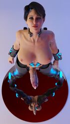 3d animated areolae balls big_breasts breasts clare3dx clare_bang cum dickgirl erection futa_only futanari huge_penis large_breasts looking_at_viewer nipples no_sound penis precum solo testicles webm