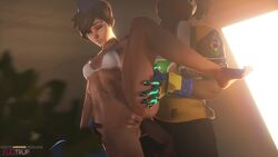 3d anal anal_penetration animated anus audiodude breasts cadet_oxton cleavage dark-skinned_male dark_skin erection female fugtrup interracial lúcio male overwatch penetration penis pussy sex sound source_filmmaker spread_legs straight tracer webm