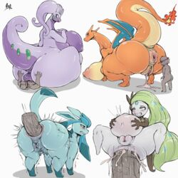 1boy 4girls after_sex ahe_gao all_fours anal anal_sex anatomically_correct anatomically_correct_pussy anthro anus areolae ass back belly big_anus big_ass big_belly big_breasts big_ears big_tail blue_eyes blue_fur blush breasts butt_crush charizard claws clenched_teeth cum cum_from_pussy cum_in_ass cum_inflation cum_inside cum_leaking dragon dryadex eeveelution feet female feral fire furry glaceon goodra green_eyes green_hair green_skin hand_on_ass hand_on_belly hat hi_res huge_ass huge_breasts huge_penis human human_on_feral hyper hyper_penis inflation interspecies large_ass larger_female legendary_pokémon long_ears long_hair looking_away male_on_feral mammal meloetta motion_lines nintendo nipples nude on_back on_top orange_skin partially_colored penetration penis pokémon_(species) poképhilia pokemon pokemon_bw pokemon_dppt pokemon_rgby pokemon_xy puffy_anus purple_skin pussy scalie sex sideboob simple_background size_difference sketch slightly_chubby spread_legs squatting stomach_bulge tail teats text thick_thighs trembling veins veiny_penis video_games voluptuous watermark wet white_background white_skin wide_hips wings zoophilia