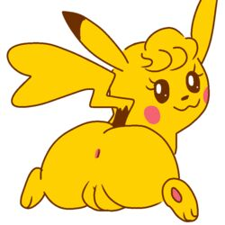 2018 anus ass big_butt cleft_tail cute female feral fur jk-kino looking_at_viewer looking_back nintendo pikachu pokémon_(species) pokemon pussy smile solo spread_legs spreading thick_thighs video_games wide_hips yellow_fur