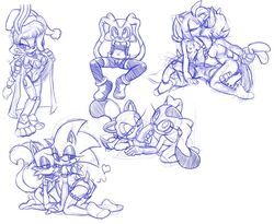 amy_rose bunnie_rabbot collar cream_the_rabbit crossdressing girly kandlin kissing oral penis sally_acorn sketch sketch_page sonic_(series) sonic_the_hedgehog tails thighhighs threesome yuri