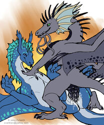 arkhanis dragon duo female feral feral_on_feral lying male male/female male_penetrating missionary_position on_back penetration penis pussy sex signature vaginal_penetration vaginal_penetration wings zyleeth