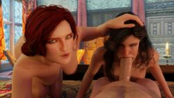 crossman25 geralt_of_rivia the_witcher the_witcher_3 the_witcher_3:_wild_hunt triss_merigold yennefer