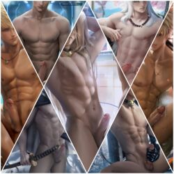 ass ass dick dicks_touching group long_penis male male/male male_focus male_only male_penetrating male_pov maledom malesub multiple_boys multiple_males naked nude nude_cover nude_edit nude_male nudist nudity penis sakimichan small_penis view