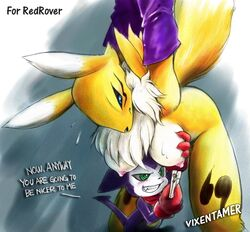 anthro bound breasts color digimon female fur furry impmon interspecies male peg renamon size_difference tagme vixen_tamer