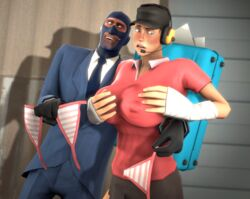big_breasts breasts femscout grope naughtastic rule_63 scout sfm sneaky source_filmmaker spy team_fortress_2