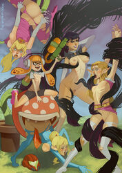 anal areolae bayonetta bayonetta_(character) black_hair blonde_hair blue_eyes bodysuit breasts cephalopod cephalopod_humanoid clothing crossover crown defeated double_penetration dress fellatio flora_fauna forced glasses hair hylian inkling inkling_girl long_hair makeup medium_breasts metroid nintendo nipples nude open_mouth oral orange_eyes orange_hair penetration pieexpress piranha_plant plant pointy_ears princess_peach princess_zelda pubic_hair rape runny_makeup samus_aran small_breasts splatoon super_mario_bros. super_smash_bros. tentacle tentacle_hair tentacle_sex the_legend_of_zelda tongue tongue_out vaginal_penetration video_games vines witch zero_suit