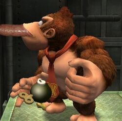 bob-omb color colour donkey_kong donkey_kong_(series) fellatio furry kong male male_only multiple_males nintendo yaoi