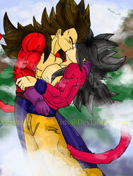 dragon_ball_gt gay kiinady_gt son_goku vegeta yaoi