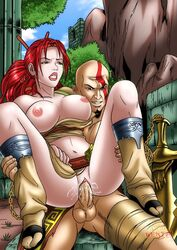 celeb_hentai god_of_war heavenly_sword kratos nariko