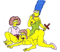 helen_lovejoy marge_simpson maude_flanders the_simpsons xiro