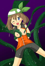 female haruka_(pokemon) may monster nipples pokemon tentacle