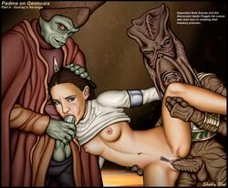 attack_of_the_clones crying geonosian interspecies nute_gunray oral padme_amidala poggle_the_lesser rape shabby_blue small_breasts spitroast star_wars tear vaginal_penetration zoophilia