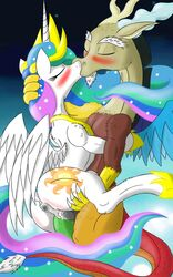 alicorn discord_(mlp) equine friendship_is_magic horn horse lolmaster love mammal my_little_pony pony princess_celestia_(mlp) sex wings