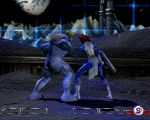 animated blue_skin boots fighting gloves loin_cloth marvel mystique red_hair sabretooth x-men