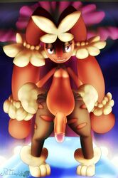 balls cotton fluffy hands_on_hips looking_at_viewer lopunny male mega_evolution mega_lopunny nintendo nipples penis pokemon pose pussy redimplight video_games