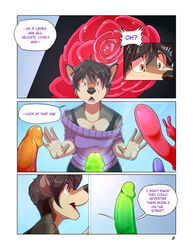 2014 anthro clothed clothing comic dildo english_text fur furry_only hair no_humans roanoak sandra sex_toy text
