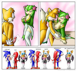 anthro bat breasts canine comic cosmo_the_seedrian echidna erection female fox fur furry hedgehog interspecies knownvortex knuckles_the_echidna male mammal multiple_females multiple_males nipples penis rouge_the_bat seedrian sega sex sonic_(series) sonic_the_hedgehog sonic_x straight tagme tails