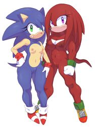 breasts female knuckles_the_echidna nipples pussy rule_63 sonic_(series) sonic_the_hedgehog squish_(artist)