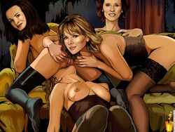 carrie_bradshaw charlotte_york famous_comics miranda_hobbes samantha_jones sex_and_the_city