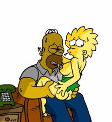 animated female helix homer_simpson human lisa_simpson male nev straight tagme the_simpsons